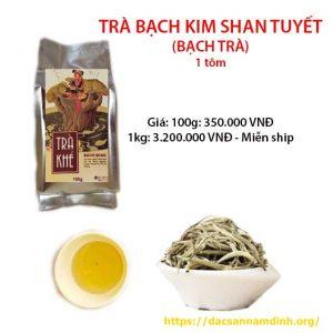 Trà bạch kim shan tuyết Hoàng Shu Phì, Hà Giang 1 tôm (búp non)