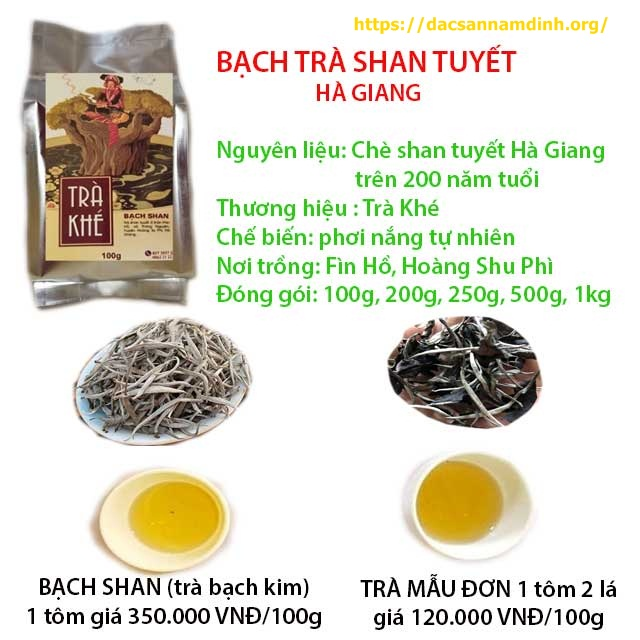 Bạch trà shan tuyết cổ thụ Hoàng Shu Phì, Hà Giang