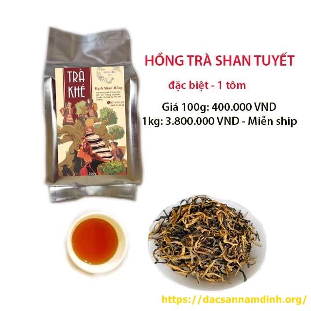 Hồng trà shan tuyết Hà Giang 1 tôm (đặc biệt) (Bạch Shan Hồng)
