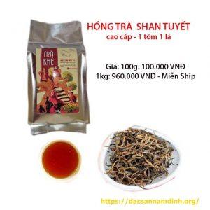 hồng trà shan tuyết Hà Giang 1 tôm 1 lá (loại cao cấp)