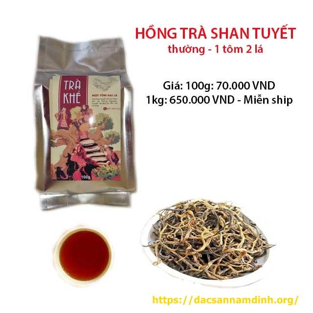 Hồng trà shan tuyết Hà Giang 1 tôm 2 lá (loại thường)