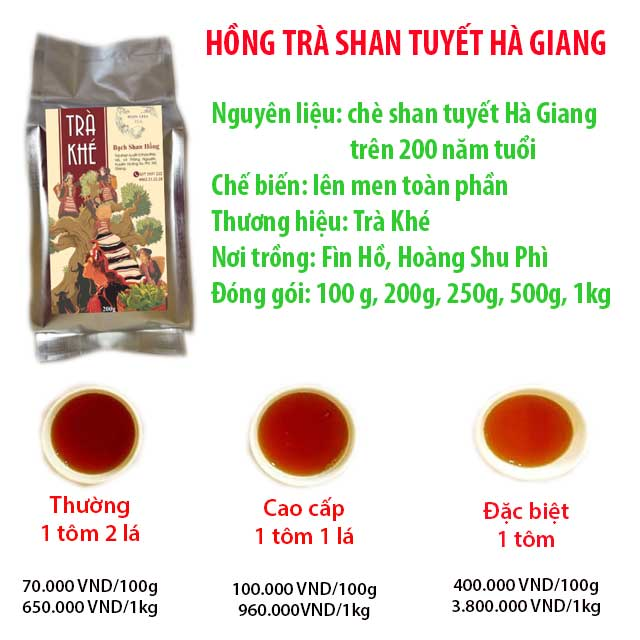 Hồng trà shan tuyết Hà Giang