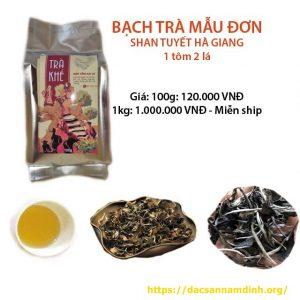 Bạch trà mẫu đơn shan tuyết 1 tôm 2 lá - Hoàng Shu, Phì Hà Giang